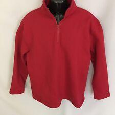 Tommy Hilfiger Sweatshirt Sz L Mens Pullover Red LS Logo Vintage 90's