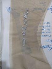 1Pr Vintage Prestige Ankle Detail Flat Knit Rt Sheer Heel Nylon Stockings 9 1/2M
