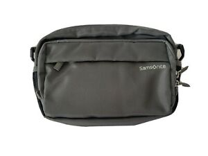 Samsonite Padded Grey Travel Bumbag / Waist Bag With Multiple Compartments