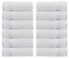New Set Of 12 Luxury Hotel Washcloths 100 Egyptian Cotton Thick White Washcloth