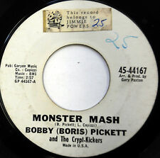 BOBBY (BORIS) PICKETT 45 Monster Mash GARPAX label 1962 HALLOWEEN Novelty dd187