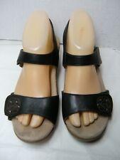 DANSKO Womens SandalsSize 8 / 8.5 Euro 39 Black Leather Sling Back #B