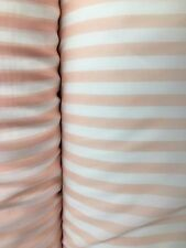 Peach White Striped Chiffon Fabric (60 in.) Sold By The Yard