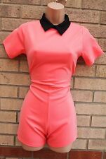 Firma Peachy Pink Peter Pan Colletto FIT pagliaccetto Tutina Tutto In Uno S 8 10