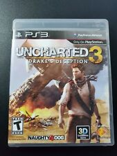 Uncharted 3 Drake Deception Black Label sony PLAYSTATION 3 PS3 Ottime Completo