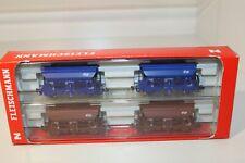 Fleischmann Spur-N 4-teiliges Set NS Selbstentladewagen unbespielt 851001 (M708)