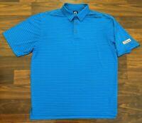 FJ Footjoy Titleist Golf Mens Polo Striped Blue Size XL