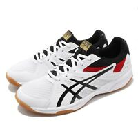 Asics Upcourt 3 White Black Gum Men Volleyball Badminton Shoes 1071A019-110