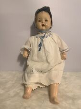 """Vintage 1930""""-40s' 26"""" Composition Doll With Teeth Cloth Body"""