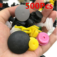 500Pcs Car Body Plastic Push Pin Rivet Fasteners Trim Moulding Clip Assortments