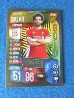 Match Attax Card - Champions League 2019/20 - Mohamed Salah - Liverpool - GOLD