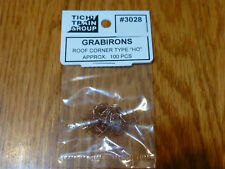 Tichy Train Group HO #3028 Formed Wire Grab Irons -- Car Roof Corners pkg(100)