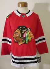 NWT NHL Branded Chicago Blackhawks Womens Home Hockey Jersey L/XL Red MSRP$80