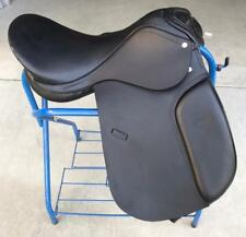 "16"" NEW LEATHER BLACK CAMBRIDGE ENGLISH DRESSAGE SADDLE ONLY"
