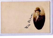 Real Photo Postcard RPPC  Woman Nell Osborn Men's Clothing Crossdressing Lesbian