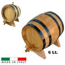 Botticella botte in legno di quercia con base e rubinetto lt 5
