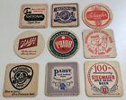 9 Old Beer Bar Coasters Natty Boh Stegmaier Prior Pabst Schlitz Schaefer 1950s