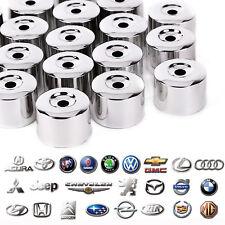 20 Wheel Nut Bolt Cover Cap 17mm For VW Golf MK4 Passat Audi Beetle Silver Lock
