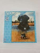 New Listingvintage Fx Schmid - 500 Piece Puzzle - Black Lab from puppy to legend New Rare