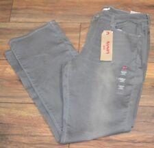 Levi's 505 Recto Gris Vaquero Talla 12m 78.7cm por 81.3cm Corte Holgado Jean