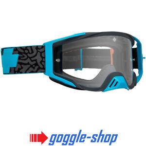 2019 SPY FOUNDATION MOTOCROSS MX BIKE GOGGLES - MAZE BLUE / CLEAR