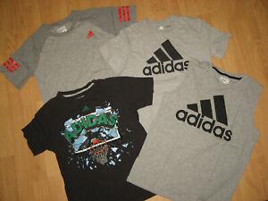 Boys lot Adidas short sleeve tops shirts medium 10-12 the go to tee sleeveless