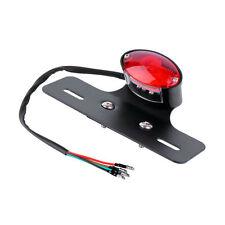 RED LED Racer Bobber Custom Motorcycle Motorbike Stop & Tail Rear Brake Light LN