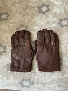 Leather Vintage Gloves. Fownes Of London. Fur Lined. Brown.