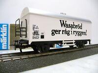 """Märklin H0 4566 Kühlwagen """" Wasabröd """", in OVP"""