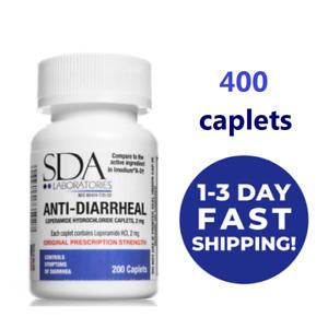 400 Anti-Diarrheal pills, Loperamid 2MG each, NO BLISTER PACKS 400/192 CAPLETS