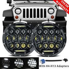 "Pair 7"" inch 200W LED Headlight Hi-Lo DRL DOT Lamp for Jeep Wrangler JK TJ CJ LJ"