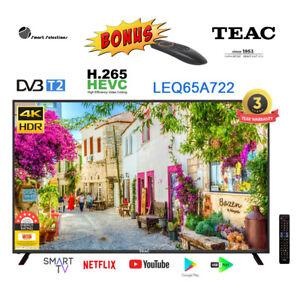 TEAC LEQ65A722 DVB-T/T2 Android 9.0 AOSP Quantum Dot Smart TV Stan Netflix Prime
