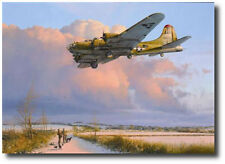 Skipper Comes Home by Robert Taylor - B-17 Flying Fortress - 4 Pilot Signatures