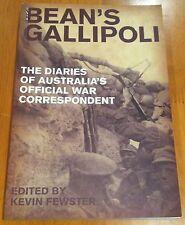 (CEW) Bean's Gallipolli - Kevin Fewster 1st paperback 2009