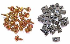 "Ford Lincoln Mercury 1/4"" Body Bolts & Clips (50 Pcs) (Kit 1356-79) #1594"