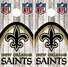 New Orleans Saint Cornhole Wrap NFL Wood Game Skin Board Set Vinyl Decal CO89