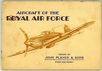 JOHN PLAYER ITC Set of 50 Cigarette Cards AIRCRAFT OF THE ROYAL AIR FORCE 1939