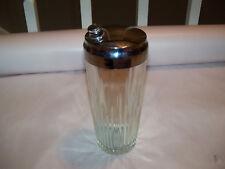 Vintage Thick Glass Cocktail Shaker Barware Pour spout