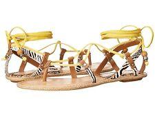 Dolce Vita Women's Karma Leather Ankle Wrap Sandals Retail $80 size 8