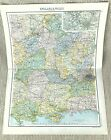 Antique Map of England Home Counties London Berks Wilts Hampshire Surrey 1893