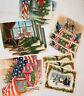 Lot of 15 Vintage Patriotic Bicentennial Christmas Greeting Cards No Envelopes