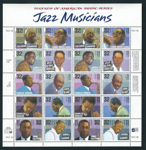 Scott # 2983/92...32 Cent...Jazz Musicians...Sheet With 20 Stamps