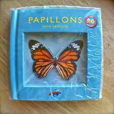 PAPILLONS by DAVID HAWCOCK French livres avec POP-UP Book About Butterflies NEW