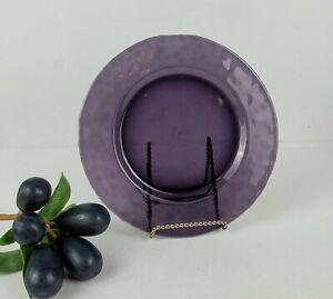 Studio Bormioli Rocco - Salad Plates, Hammered Amethyst Purple Glass