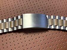 NOS New correa strap bracelet vintage old stock 22 mm acero marron band