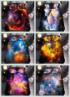 Nebula Galaxy Duvet Cover Set Outer Space Bedding Kids Teens Comforter Covers