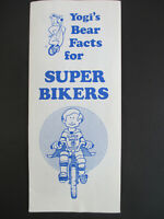 Vintage 1980s YOGI'S BEAR FACTS FOR SUPER BIKERS Safety Pamphlet Flyer CA bike
