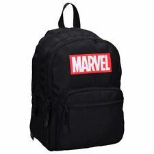 Marvel Logo Retro Black Laptop Backpack School Bag - Uni Work Gym