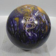 New listing Brunswick Groovy Grape Undrilled 12# Bowling Ball T-Zone Purple Yellow Swirl
