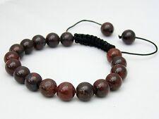 Men's Shamballa bracelet all 10mm  Jasper Brecciated NATURAL STONE  beads